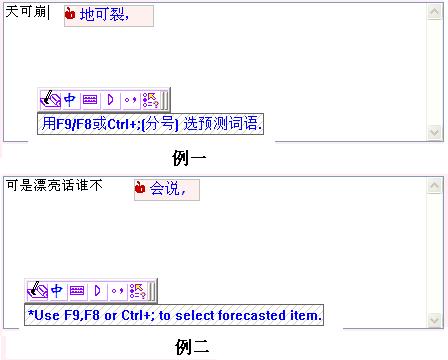 Chinese Input Forecast